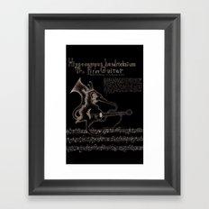 Hippocampus Hendricksium  Framed Art Print