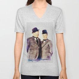 Laurel and Hardy, Movie Legends Unisex V-Neck