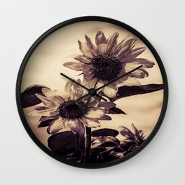 Post card Sunflowers Wall Clock
