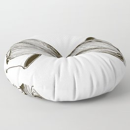 twins with mobius hairs Floor Pillow