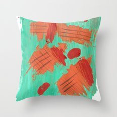Traces on a grass... Throw Pillow