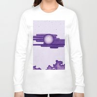 egyptian Long Sleeve T-shirts featuring Egyptian Moon by Erica Putis