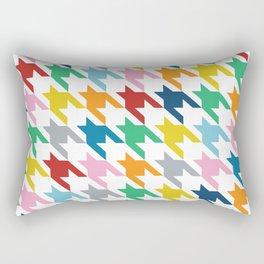Rainbow Dogtooth Rectangular Pillow
