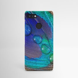 Peacock feather & water droplets Android Case
