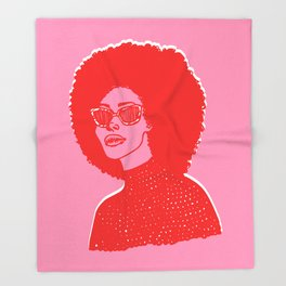 Kara Pink Throw Blanket