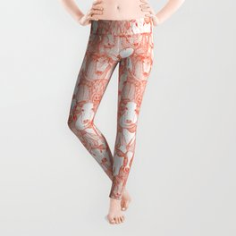 just cattle flame white Leggings