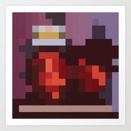 Southern Pixelistic Cadillac Muzik Art Print