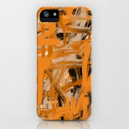 Orange & Taupe Abstract iPhone Case