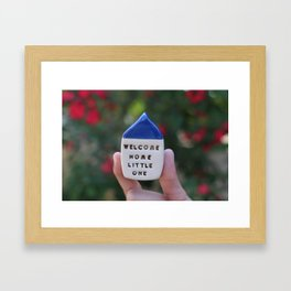 Welcome Home Little One House Framed Art Print