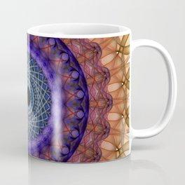Mandala of coloured smoke Coffee Mug