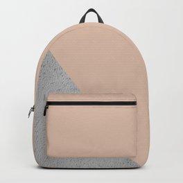 Geometrical Color Block Diagonal Cement vs nude Backpack