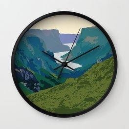Gros Morne Wall Clock