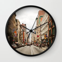 Shopping Day in Soho Wall Clock
