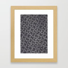 Life is a puzzle 28 Framed Art Print