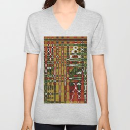 Abstract Art Work Geometic Unisex V-Neck