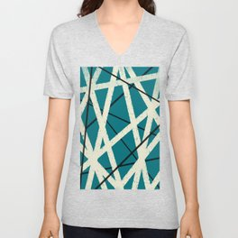 Long Beach in Teal Unisex V-Neck