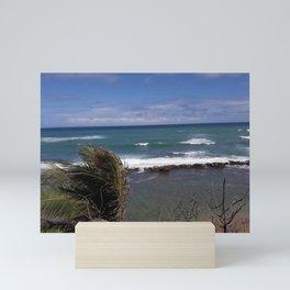 Beach Scene - San Juan, Puerto Rico Mini Art Print