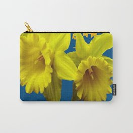 TEAL YELLOW SPRING DAFFODILS  ART DESIGN Carry-All Pouch