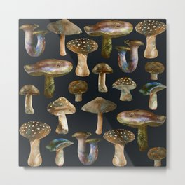 Mushrooms at Night Metal Print