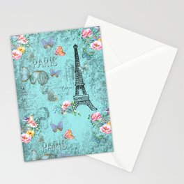 Paris - my blue love Stationery Cards