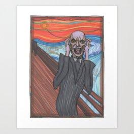 The Scream (Hush Gentleman from Buffy) Art Print