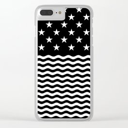 USA (Black/White) Clear iPhone Case