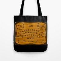 ouija Tote Bags featuring Ouija 3.0 by tuditees