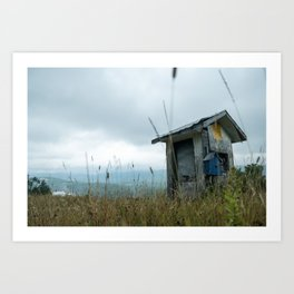 The lonely cabin Art Print