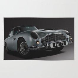 Aston Martin DB5 Digital Painting | Automotive | Cars Rug
