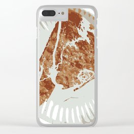 Pizza Map Clear iPhone Case