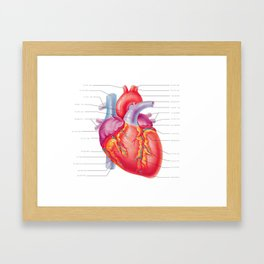 You Are Here (In My Heart) Framed Art Print