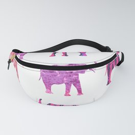 Pretty in Pink Elephant Print Fanny Pack
