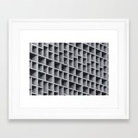 grid Framed Art Prints featuring Grid by Cameron Booth