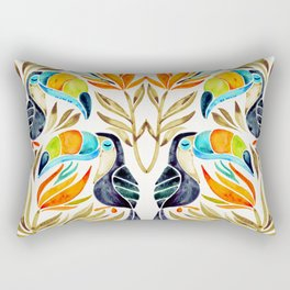 Tropical Toucans – Sepia Palette Rectangular Pillow