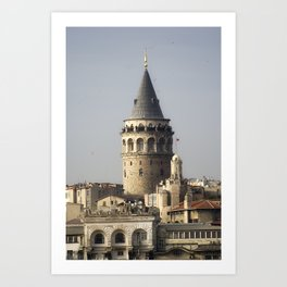 Galata Tower, A historical place in Istanbul Turkey Art Print