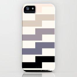 Grey Taupe Lightning Bolt Zig Zag Geometric Pattern Minimalist Zen Art iPhone Case