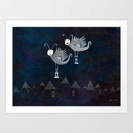 The Radiant Ranges / The Lantern Moths' Commemoration Art Print