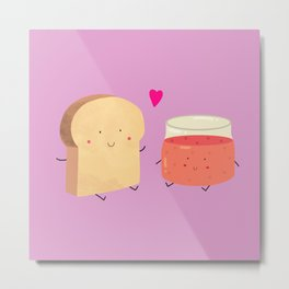 Bread loves jam Metal Print