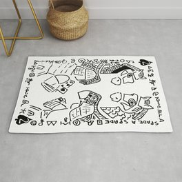 Call a Spade a Spade  (two of spades, horses and soldiers playing spades) Rug