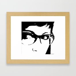 Girl With Glasses Framed Art Print