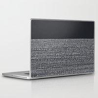georgiana paraschiv Laptop & iPad Skins featuring Riverside (Black) by Jacqueline Maldonado