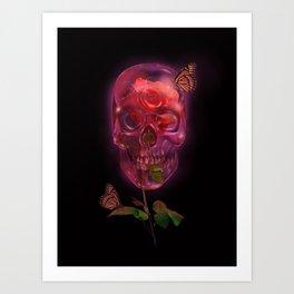 """"""" Skully Bloom """" Art Print"""