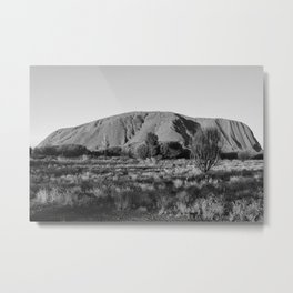 Black and White Uluru - Australia Metal Print