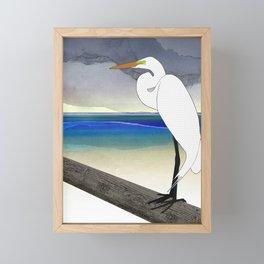 American Great Egret Framed Mini Art Print
