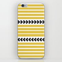 striped iPhone & iPod Skins featuring Striped by Mariana Nabas