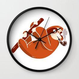Serial Chiller Sloth Wall Clock