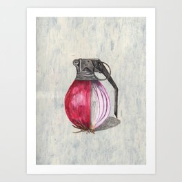 ONION IN THE HOLE! Art Print