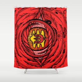 Eye of an Incarnation Red Shower Curtain