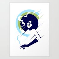 Retropolitan (cool) Art Print