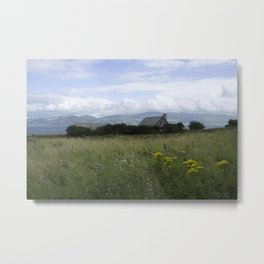Farmhouse in the fields Metal Print